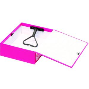 Marbig Heavy Duty Box File 75mm A5 Summer Colour Pink