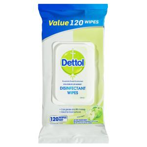 Dettol Surface Wipes Apple 120 Pack Green