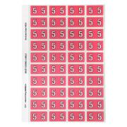 Avery Colour Coding Labels Numeric 5 Self Adhesive Pink Pack 240