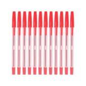 Simply Tinted Stick Ballpoint Pen Medium 1.0mm Red Box 12