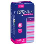 Huggies Drynites Pyjama Pants Girls 8-15 Years Pack 9 Carton 3