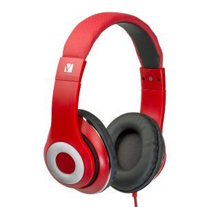 Verbatim Classic Over-Ear Stereo Headphones - Red