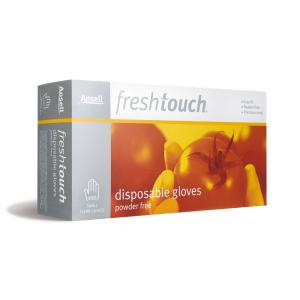 Ansell 8505 Fresh Touch Gloves Powder Free Disposable Vinyl Clear Size Large Box 100