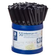 Staedtler Stick 430 Medium Ballpoint Pen Black Cup 50