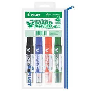 Pilot V Board Whiteboard Marker Bullet Asst 4 Pack