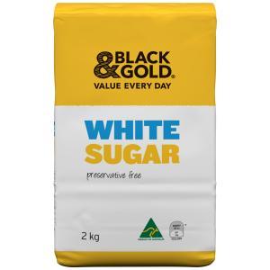 Black & Gold White Sugar 2kg