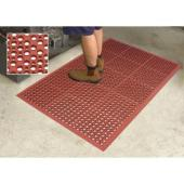 Safety Cushon Matting 900X1500mm Grease Resist Red