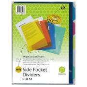 Marbig Dividers Plastic A4 5 Pocket Coloured