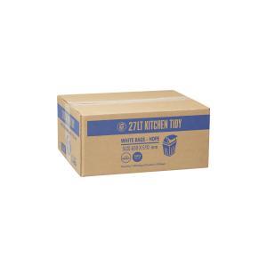 Austar Bin Liners Kitchen Tidy 510x650mm 27 Litre White Roll 50 Carton 1000