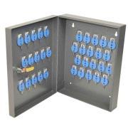 Telkee Key Cabinet 347/35 Hooks 347h x 280w x 80dmm Grey-35 Maximum Key Capacity