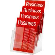 Esselte Brochure Holder 4 Compartments A4 Clear