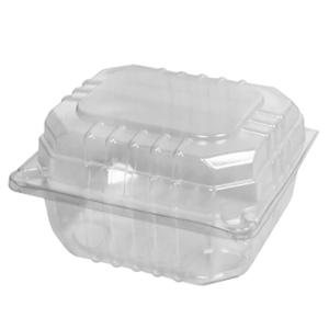 Castaway Clearview Takeaway Food Burger Container With Hinged Lid Small 104X91X65mm Clear Pack 250