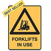Brady 832083 Sign Forklifts In Use Metal 450X300mm Each