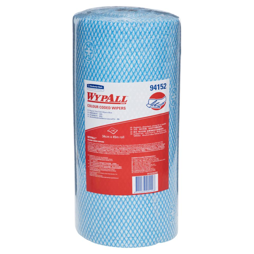 Wypall 94152 Blue Colour Coded Cloth 106 Wipers Per Roll