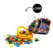 EC Counters Transparent 20mm 4 Colour Tub 1000