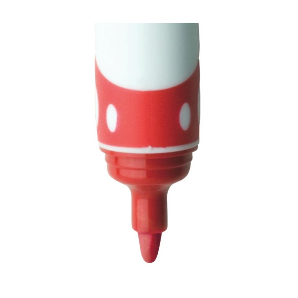 Officemax Red Drysafe Whiteboard Marker 2.0mm Bullet Tip Pack Of 6