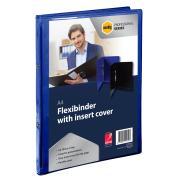 Marbig Professional Flexibinder Clear Insert 2 Ring 20mm A4 Blue Each