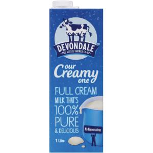 Devondale Uht Full Cream Milk 1 Litre Carton 10