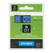 Dymo D1 Label Printer Tape 12mm x 7m Black On Blue