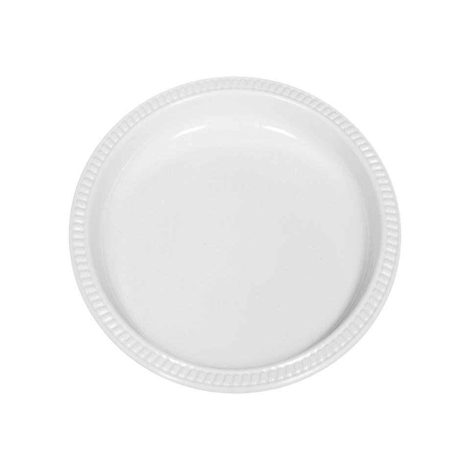 Castaway Superware Plastic Round Side Plate 175mm White Pack 50