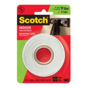 Scotch Permanent Mounting Tape 1.27cm x 1.9m White