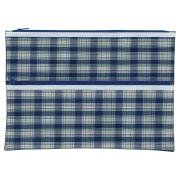 Winc Tartan Pencil Case 2 Zip Pouch 375x264mm