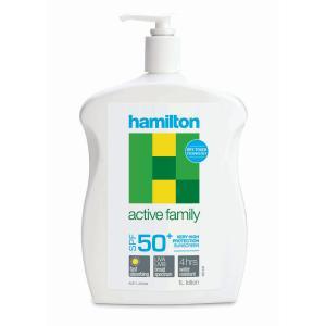 Hamilton Active Family Lotion Sunscreen Spf50+ 1l