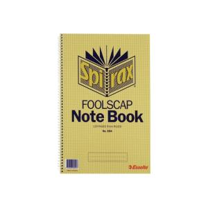 Spirax 594 Notebook Foolscap Side Opening 120 Page