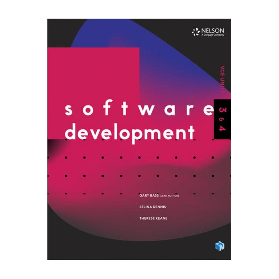 Software Development Vce Units 3 & 4 Student Book With 1 Code Access Card Gary Bass Et Al 1st Ed