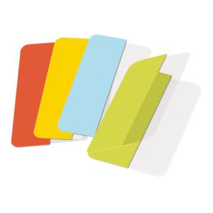 3L 10532 Twin Tabs 40mm Double Sided Assorted Colours Pack 24