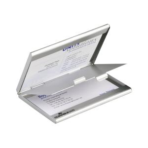Durable Visifix Business Card Holder Duo 10 Card Capacity Silver