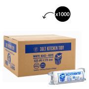 Austar Bin Liners Kitchen Tidy 690x570mm 36 Litre White Roll 50 Carton 1000