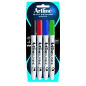 Artline Supreme Whiteboard Marker Fine 1.5 mm Assorted Colours Pack 4