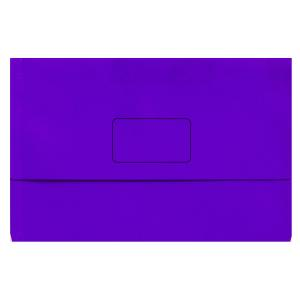 Marbig Slimpick Document Wallet Foolscap Purple Pack 10