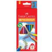 Faber-Castell Triangular Coloured Pencils Pack 10