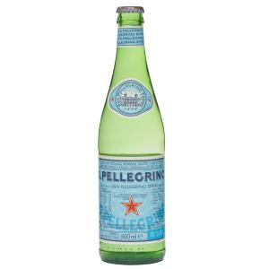 S.Pellegrino Sparkling Mineral Water 500ml Glass Bottle Carton 24