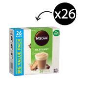 Nescafe Cafe Menu Coffee Sticks 18g Hazelnut Box 26