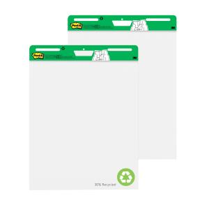 Post-It Super Sticky Easel Pad Recycled White 635 x 762mm Pack 2