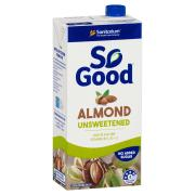 Sanitarium So Good UHT Unsweetened Almond Milk 1 Litre