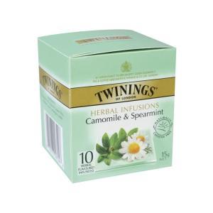 Camomile and spearmint tea