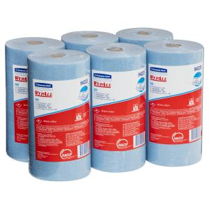 Wypall 94223 X60 Small Roll Blue 80 Wipers Per Roll Case of 6 Rolls