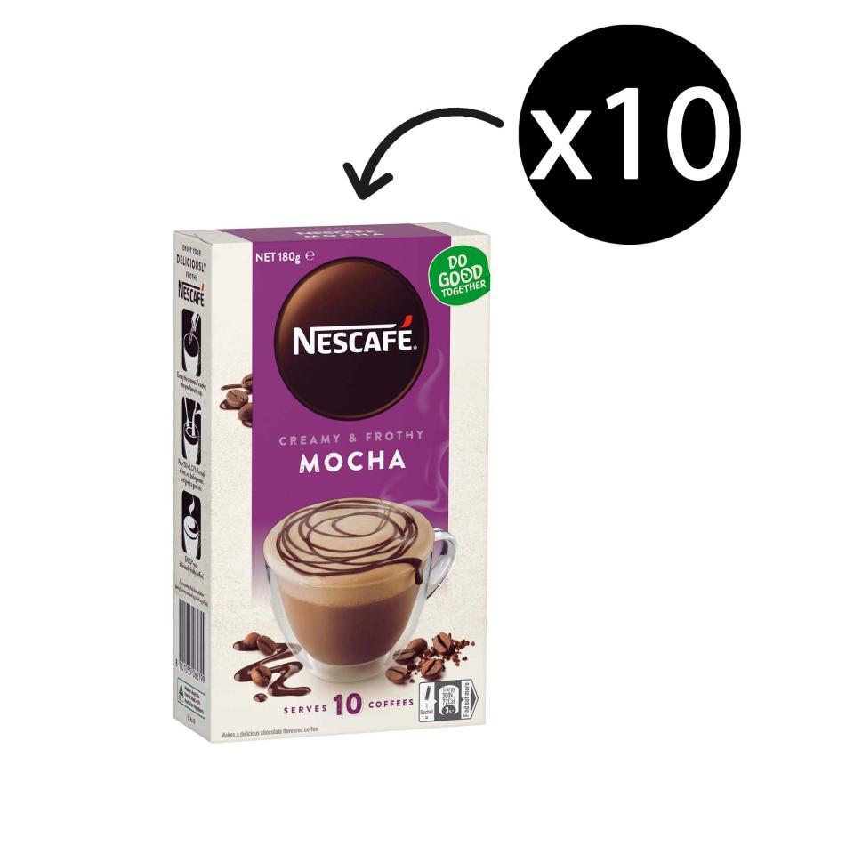 Nescafe Cafe Menu Coffee Sticks 18g Mocha Box 10
