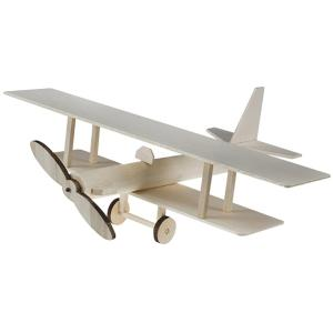 Steam Learning With Balsa Bi-plane Wood Models
