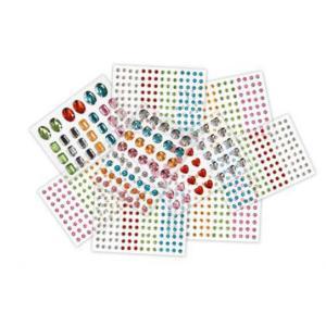 Colorific Adhesive Rhinestones 9 sheets 850 Pack