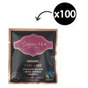 SereniTEA Organic & Fairtrade Earl Grey Enveloped Pyramid Tea Bags Pack 100