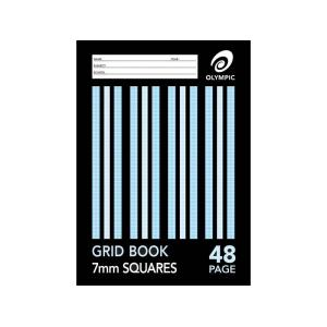 Olympic Grid Book A4 48 Pages 7mm Squares Stapled