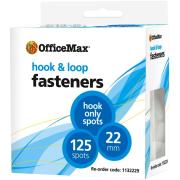 Officemax Hook Only Fasteners Spot 22mm White Pack Of 125