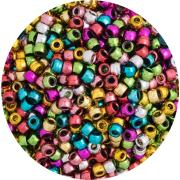 Ec Pony Beads Assorted Metallic Colours Pack Of 1000