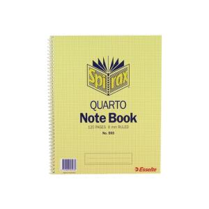 Spirax 593 Notebook Quarto Side Opening 250X200mm 120 Page