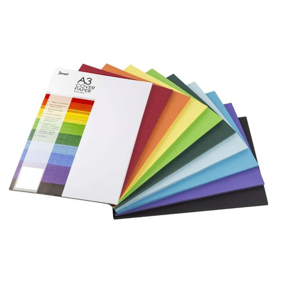 Jasart Cover Paper A3 297X420mm 125gsm Assorted Ream 500